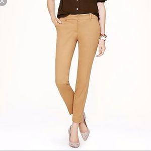 J. Crew Cafe Capri Tan Cotton Cropped Pants
